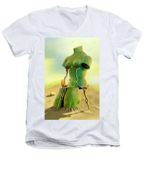 Crutches 2 Men's V-Neck T-Shirt