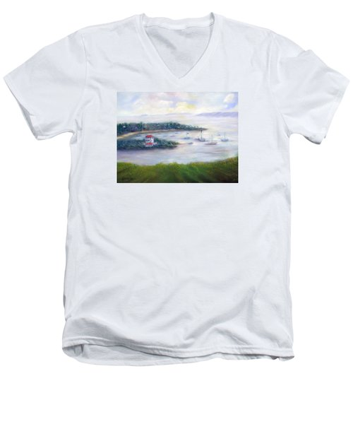 Cruz Bay Remembered Men's V-Neck T-Shirt