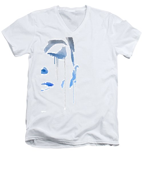Crying In Pain Men's V-Neck T-Shirt by ISAW Gallery