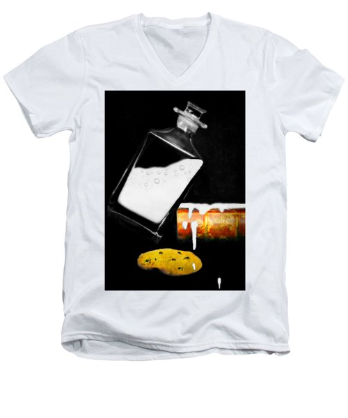 Men's V-Neck T-Shirt featuring the photograph Crying Over Spilled Milk by Diana Angstadt
