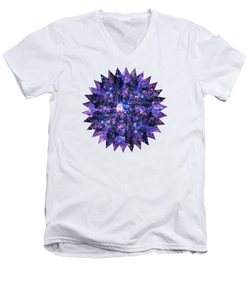 Men's V-Neck T-Shirt featuring the photograph Crystal Magic 1 by Leanne Seymour
