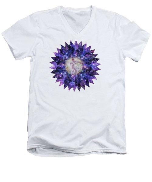 Crystal Magic Mandala Men's V-Neck T-Shirt