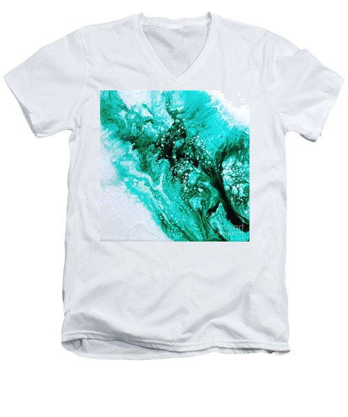 Crystal Wave2 Men's V-Neck T-Shirt