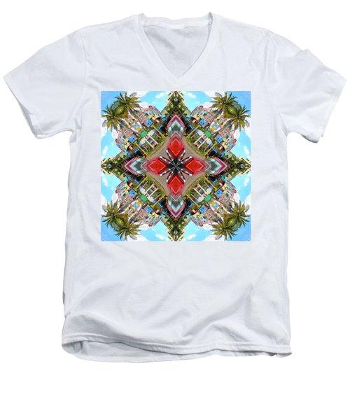 Cuban Kaleidoscope Men's V-Neck T-Shirt