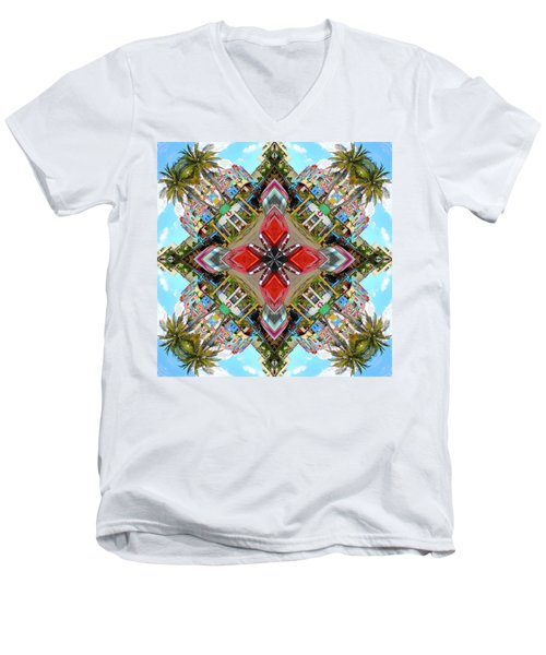 Cuban Kaleidoscope Men's V-Neck T-Shirt