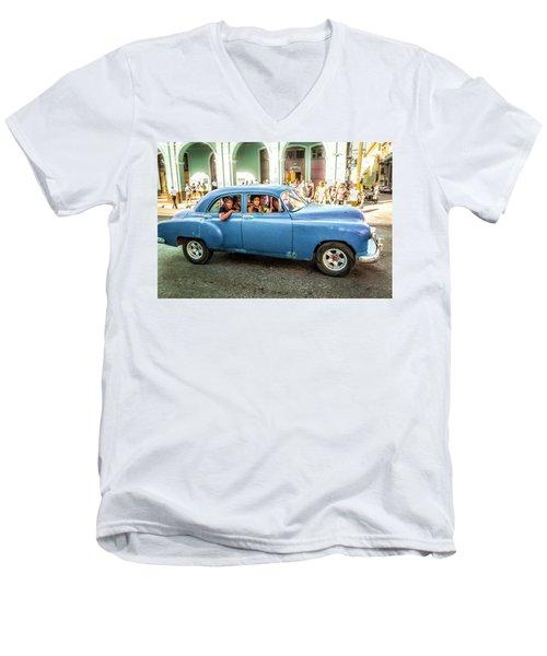 Cuban Taxi Men's V-Neck T-Shirt