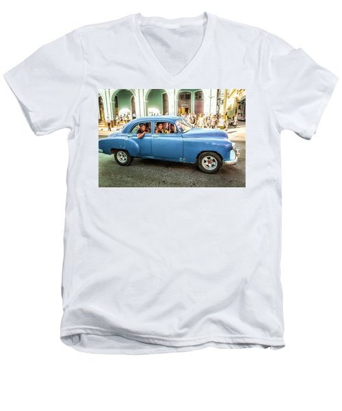Cuban Taxi Men's V-Neck T-Shirt