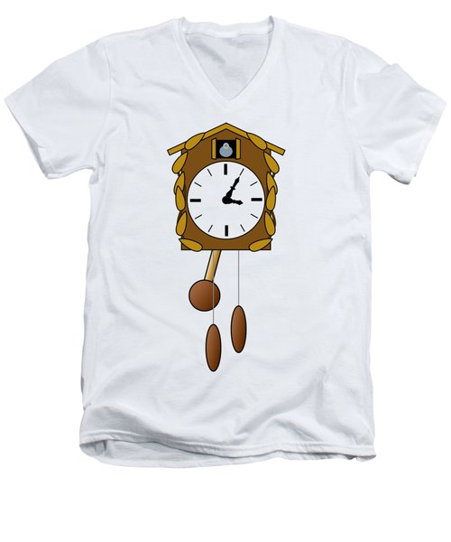 Cuckoo Clock Men's V-Neck T-Shirt by Miroslav Nemecek