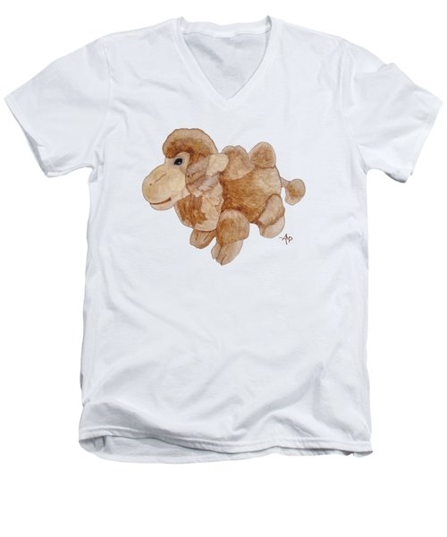 Cuddly Camel Men's V-Neck T-Shirt