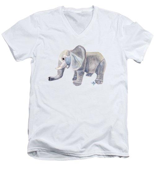Cuddly Elephant II Men's V-Neck T-Shirt