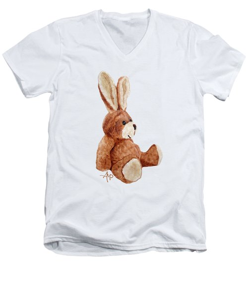 Cuddly Rabbit Men's V-Neck T-Shirt