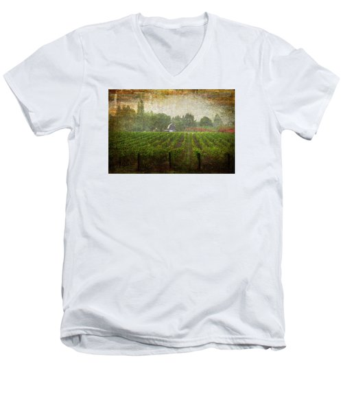 Cultivating A Chardonnay Men's V-Neck T-Shirt