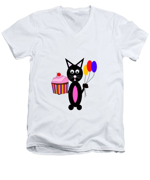 Cup Cake Party Men's V-Neck T-Shirt by Kathleen Sartoris