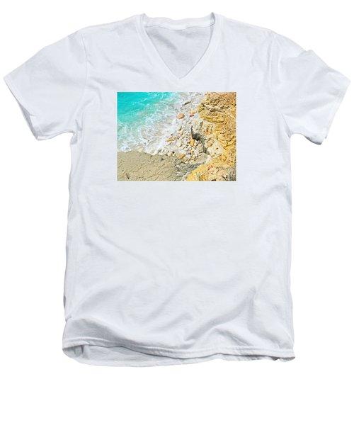 The Sea Below Men's V-Neck T-Shirt by Expressionistart studio Priscilla Batzell