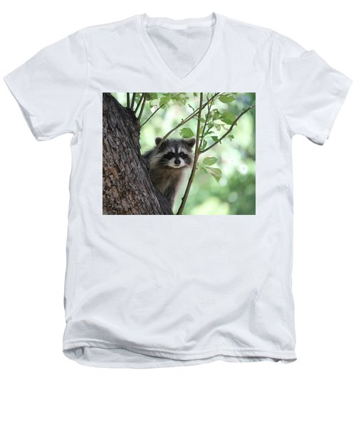 Curious But Cautious Men's V-Neck T-Shirt