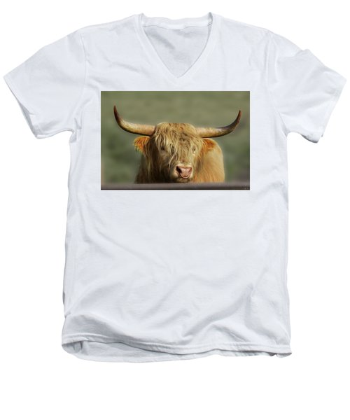 Curious Highlander Men's V-Neck T-Shirt