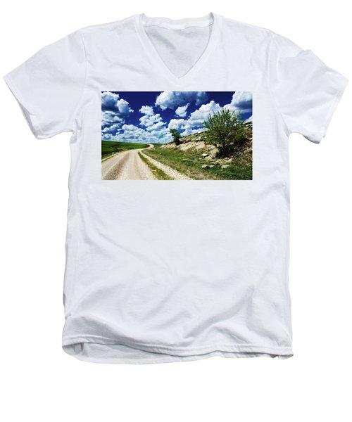 Curving Gravel Road Men's V-Neck T-Shirt
