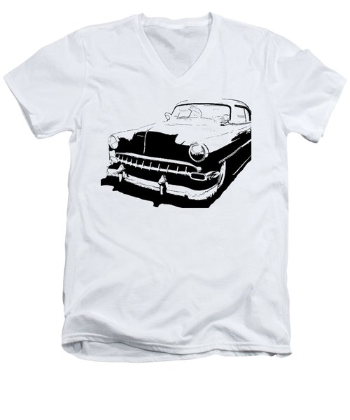 Custom 1954 Chevy Tee Men's V-Neck T-Shirt