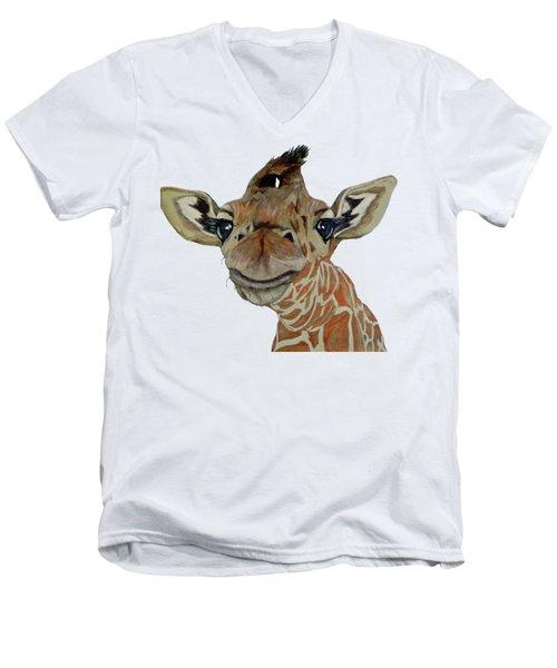 Cute Giraffe Baby Men's V-Neck T-Shirt