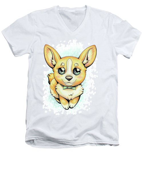 Cutie Corgi Men's V-Neck T-Shirt
