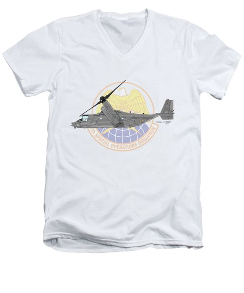 Cv-22b Osprey 7sos Men's V-Neck T-Shirt