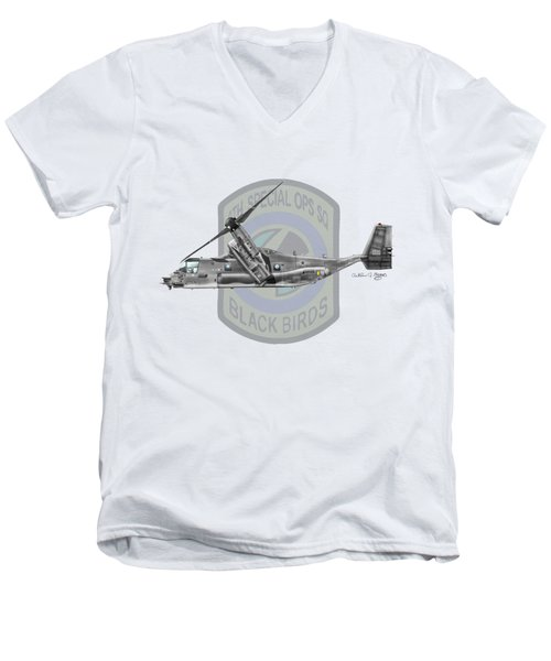 Cv-22b Osprey 8sos Men's V-Neck T-Shirt