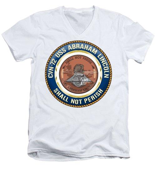 Cvn-72 Uss Abraham Lincoln Men's V-Neck T-Shirt