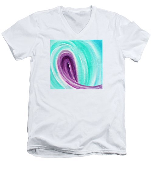 Men's V-Neck T-Shirt featuring the painting Cy Lantyca 26 by Cyryn Fyrcyd