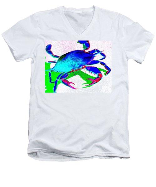 Cyan Crab Men's V-Neck T-Shirt