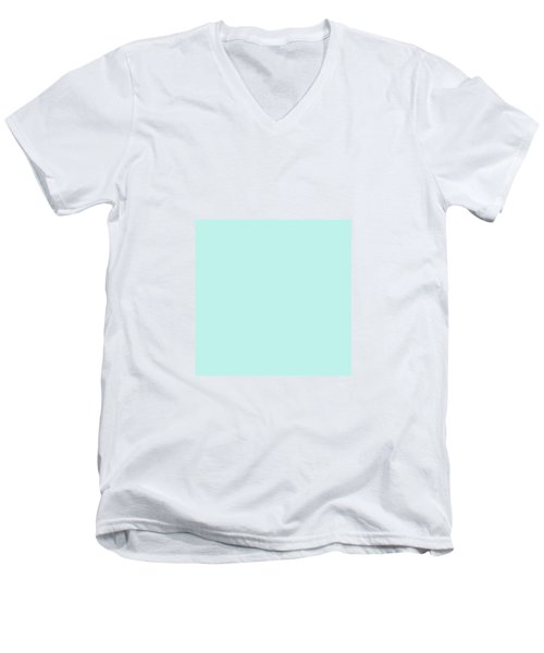 Cyan Ultra Soft Pastels Colour Palette Men's V-Neck T-Shirt