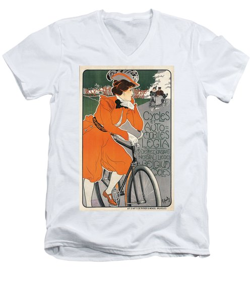 Cycles Et Automobiles Legia Poster 1898 Men's V-Neck T-Shirt