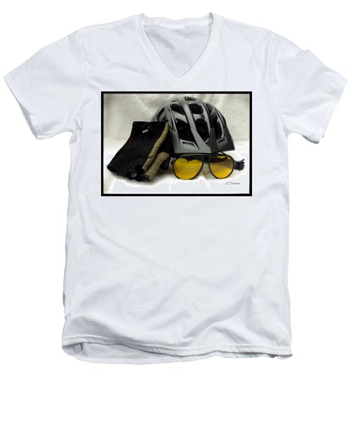 Men's V-Neck T-Shirt featuring the photograph Cycling Gear by James C Thomas