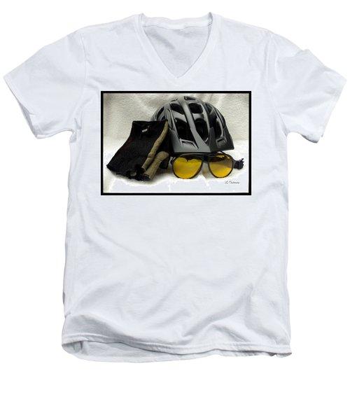 Cycling Gear Men's V-Neck T-Shirt by James C Thomas