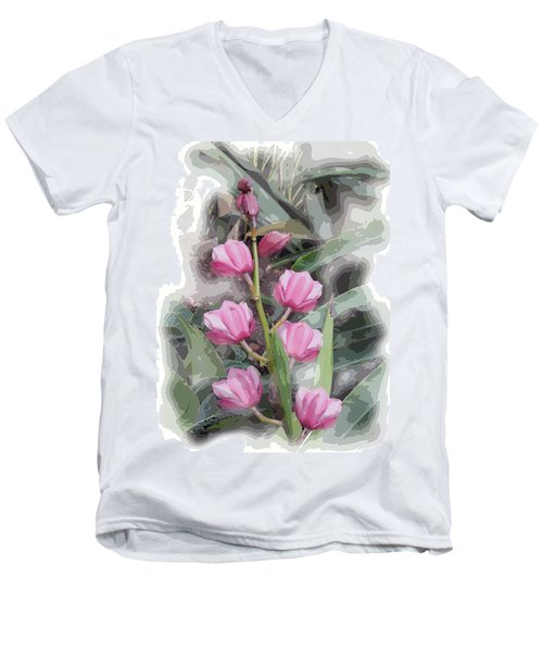 Cymbidium Men's V-Neck T-Shirt