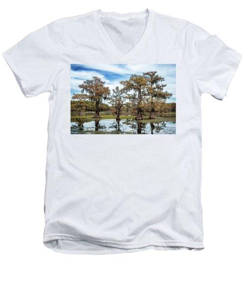 Cypress Expression  Men's V-Neck T-Shirt