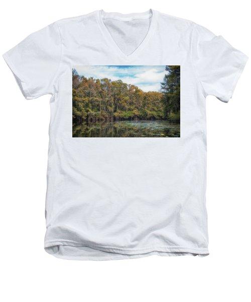 Cypress Jungle Men's V-Neck T-Shirt