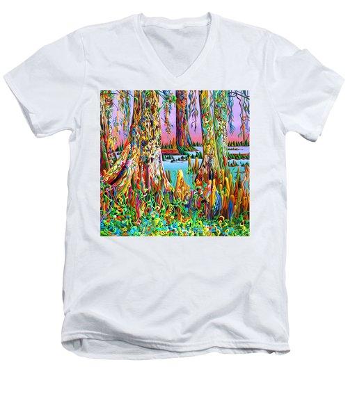 Cypress Spirit Rising Men's V-Neck T-Shirt