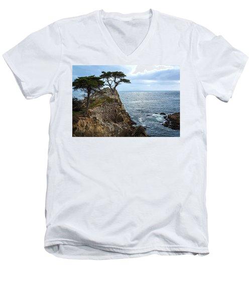 Cypress Tree On The Point Men's V-Neck T-Shirt