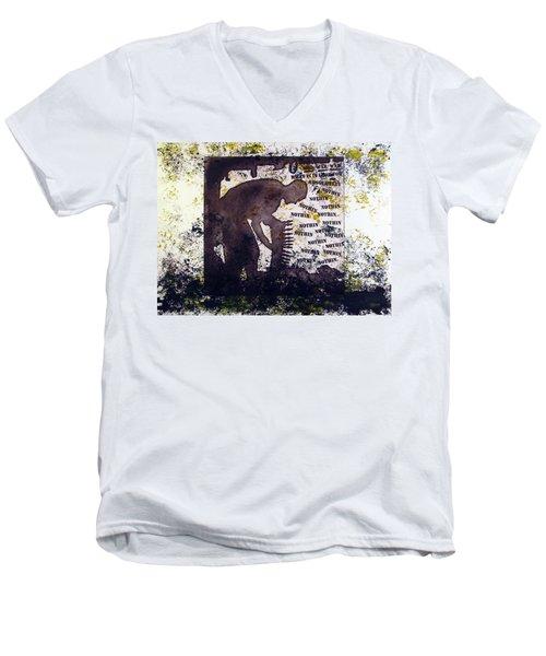 D U Rounds Project, Print 29 Men's V-Neck T-Shirt
