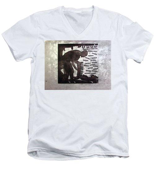D U Rounds Project, Print 36 Men's V-Neck T-Shirt