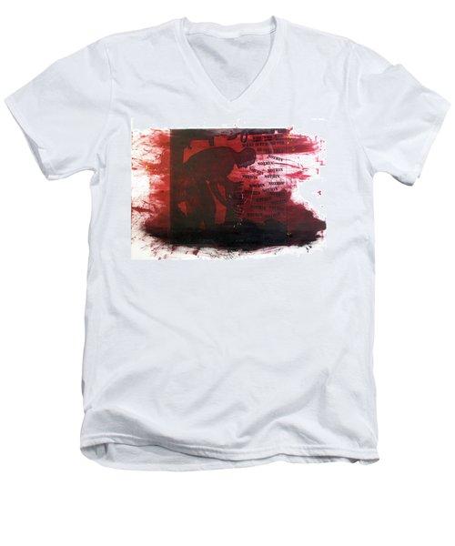 D U Rounds Project, Print 38 Men's V-Neck T-Shirt