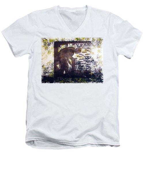 D U Rounds Project, Print 47 Men's V-Neck T-Shirt