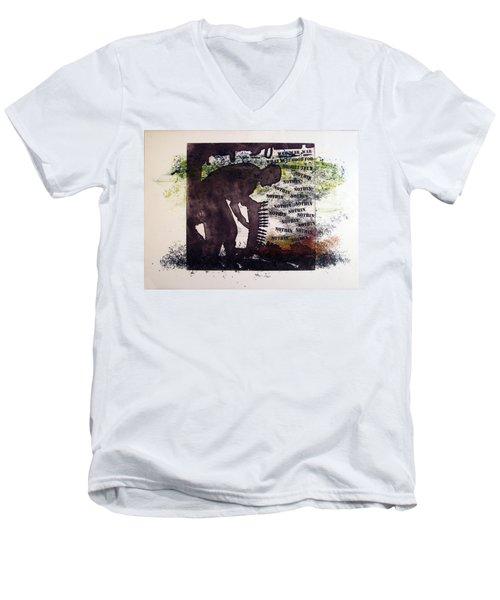 D U Rounds Project, Print 5 Men's V-Neck T-Shirt