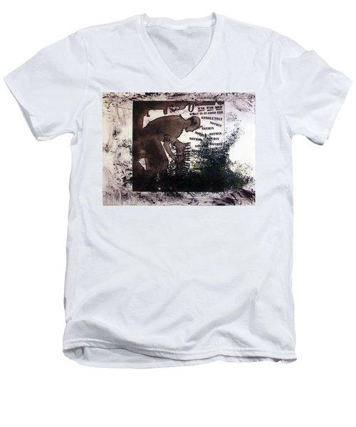 D U Rounds Project, Print 50 Men's V-Neck T-Shirt