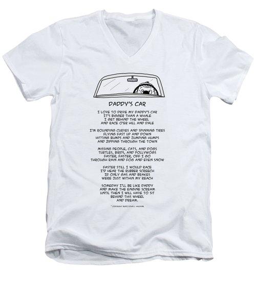 Daddys Car Men's V-Neck T-Shirt