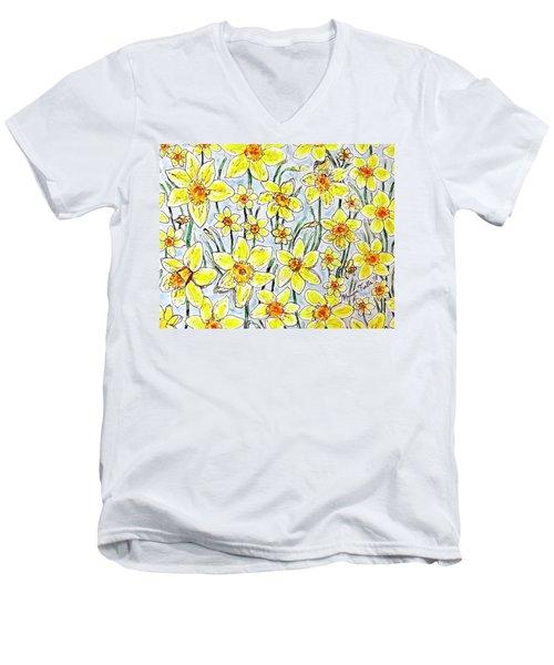 Daffodils Men's V-Neck T-Shirt
