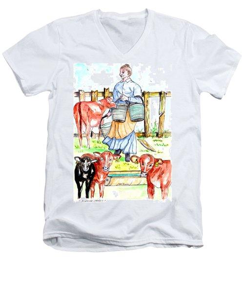 Daily Chores Men's V-Neck T-Shirt