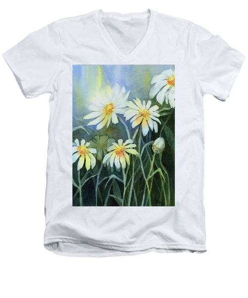 Daisies Flowers  Men's V-Neck T-Shirt