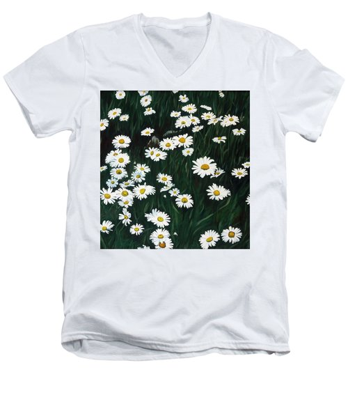 Daisy Bouquet Men's V-Neck T-Shirt
