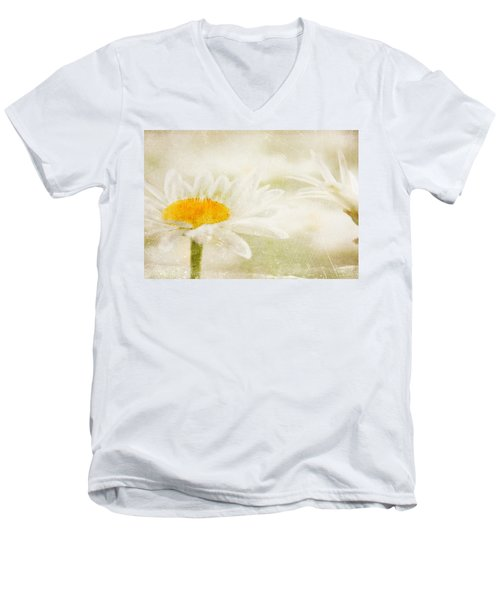 Daisy Men's V-Neck T-Shirt by Catherine Alfidi